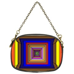 Square Abstract Geometric Art Chain Purses (one Side)