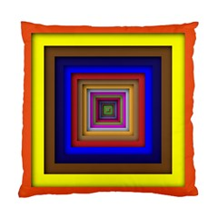 Square Abstract Geometric Art Standard Cushion Case (one Side)
