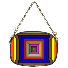 Square Abstract Geometric Art Chain Purses (two Sides)