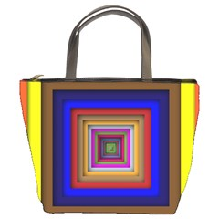 Square Abstract Geometric Art Bucket Bags