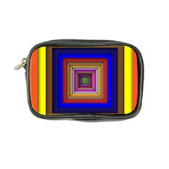 Square Abstract Geometric Art Coin Purse
