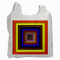 Square Abstract Geometric Art Recycle Bag (one Side)
