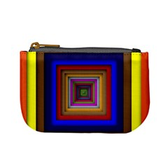 Square Abstract Geometric Art Mini Coin Purses