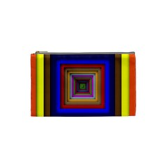 Square Abstract Geometric Art Cosmetic Bag (small)