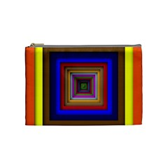 Square Abstract Geometric Art Cosmetic Bag (Medium)