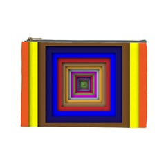 Square Abstract Geometric Art Cosmetic Bag (large)