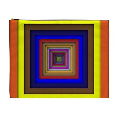 Square Abstract Geometric Art Cosmetic Bag (xl)