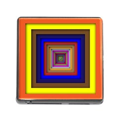 Square Abstract Geometric Art Memory Card Reader (Square)