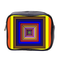 Square Abstract Geometric Art Mini Toiletries Bag 2-Side