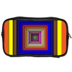 Square Abstract Geometric Art Toiletries Bags 2 Side