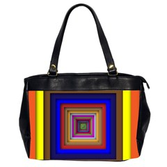 Square Abstract Geometric Art Office Handbags (2 Sides)