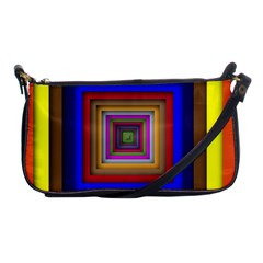 Square Abstract Geometric Art Shoulder Clutch Bags