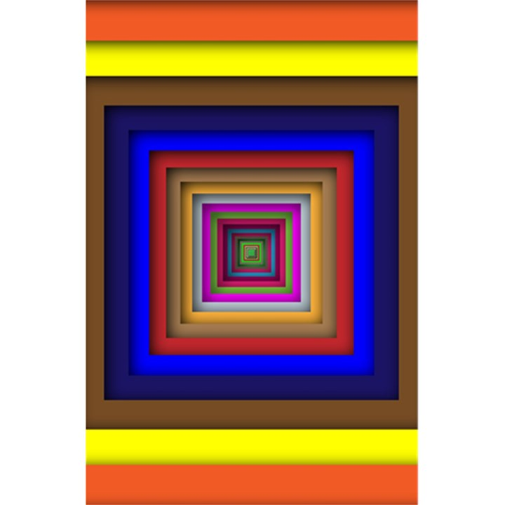 Square Abstract Geometric Art 5.5  x 8.5  Notebooks