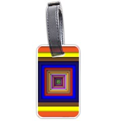 Square Abstract Geometric Art Luggage Tags (Two Sides)