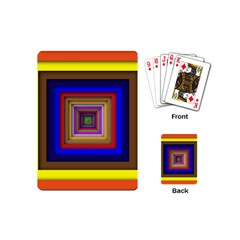 Square Abstract Geometric Art Playing Cards (mini)