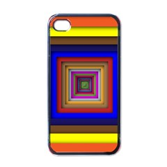 Square Abstract Geometric Art Apple Iphone 4 Case (black)