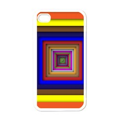 Square Abstract Geometric Art Apple Iphone 4 Case (white)