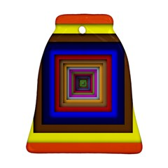 Square Abstract Geometric Art Ornament (Bell)