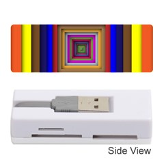 Square Abstract Geometric Art Memory Card Reader (stick)