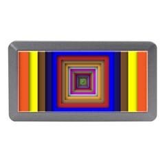 Square Abstract Geometric Art Memory Card Reader (Mini)