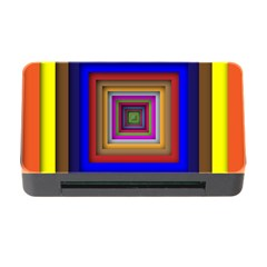 Square Abstract Geometric Art Memory Card Reader With Cf
