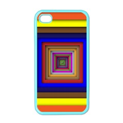 Square Abstract Geometric Art Apple Iphone 4 Case (color)