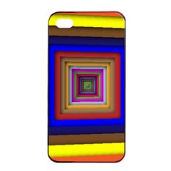 Square Abstract Geometric Art Apple Iphone 4/4s Seamless Case (black)