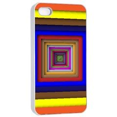 Square Abstract Geometric Art Apple Iphone 4/4s Seamless Case (white)