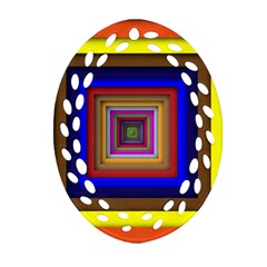 Square Abstract Geometric Art Ornament (oval Filigree)