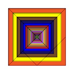 Square Abstract Geometric Art Acrylic Tangram Puzzle (6  X 6 )