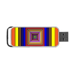 Square Abstract Geometric Art Portable Usb Flash (one Side)