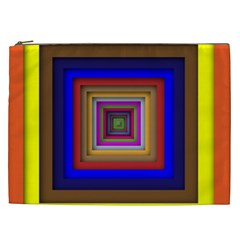 Square Abstract Geometric Art Cosmetic Bag (xxl)