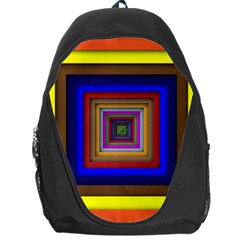 Square Abstract Geometric Art Backpack Bag