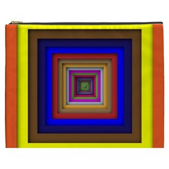 Square Abstract Geometric Art Cosmetic Bag (xxxl)