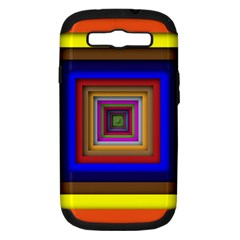 Square Abstract Geometric Art Samsung Galaxy S Iii Hardshell Case (pc+silicone)