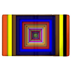 Square Abstract Geometric Art Apple iPad 2 Flip Case