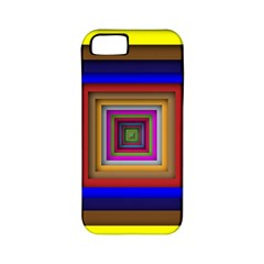 Square Abstract Geometric Art Apple Iphone 5 Classic Hardshell Case (pc+silicone)