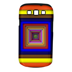 Square Abstract Geometric Art Samsung Galaxy S Iii Classic Hardshell Case (pc+silicone)