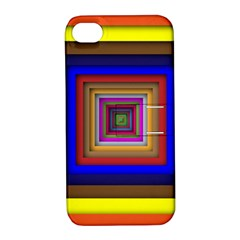 Square Abstract Geometric Art Apple Iphone 4/4s Hardshell Case With Stand