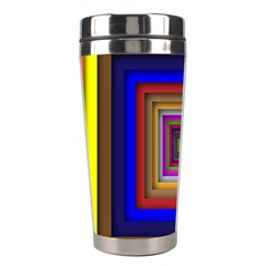 Square Abstract Geometric Art Stainless Steel Travel Tumblers