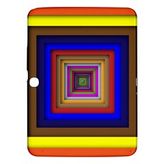 Square Abstract Geometric Art Samsung Galaxy Tab 3 (10 1 ) P5200 Hardshell Case