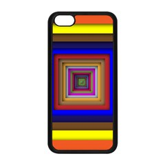 Square Abstract Geometric Art Apple Iphone 5c Seamless Case (black)