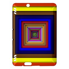 Square Abstract Geometric Art Kindle Fire Hdx Hardshell Case