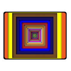 Square Abstract Geometric Art Double Sided Fleece Blanket (small)