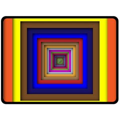 Square Abstract Geometric Art Double Sided Fleece Blanket (Large)
