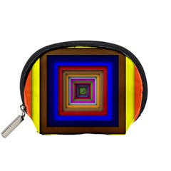 Square Abstract Geometric Art Accessory Pouches (Small)
