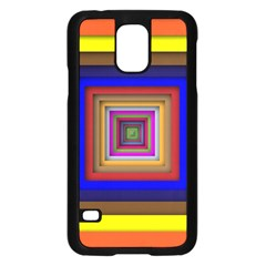 Square Abstract Geometric Art Samsung Galaxy S5 Case (black)