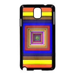 Square Abstract Geometric Art Samsung Galaxy Note 3 Neo Hardshell Case (black)