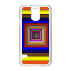 Square Abstract Geometric Art Samsung Galaxy S5 Case (white)