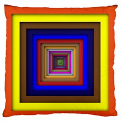 Square Abstract Geometric Art Standard Flano Cushion Case (one Side)